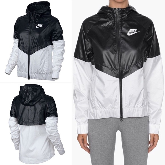 cfd43bbb4c Women s Nike Windbreaker Jacket Black White